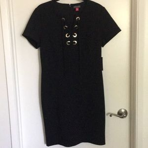 Vince Camuto Dress w/ Goldtone Grommet Detail